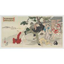 安達吟光: True Record of Chinese Telegraph: Secretary Sugiyama Fighting Desperately - ボストン美術館