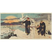 Kobayashi Kiyochika: Advance Disposition of Troops at Weihaiwei (Ikaiei shingun haichi no zu) - Museum of Fine Arts