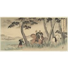 Torii Kiyotada VII: Our Cavalry Scouts Reconnoitering the Enemy's Movements (Waga sekkô kihei tekijô teisatsu no zu) - ボストン美術館