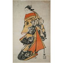 Torii Kiyomasu I: Actor Fujimura Handayû II as Ôiso no Tora - Museum of Fine Arts