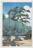 川瀬巴水: Great Buddha of Kamakura - ミネアポリス美術館