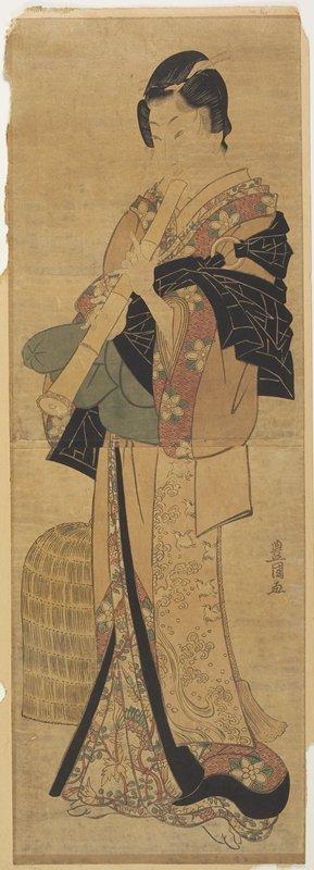 Utagawa Toyokuni I: (Woman Disguised as a Mendicant Priest) - Minneapolis Institute of Arts
