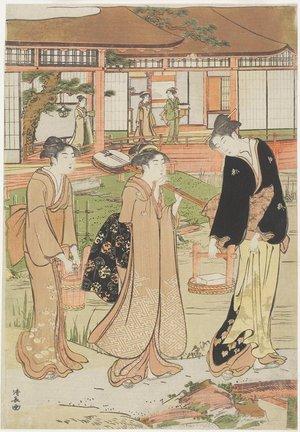 鳥居清長: Picnic in a Daimyo's Garden - ミネアポリス美術館