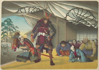 小林清親: (Warrior Departing for a Battle) - ミネアポリス美術館