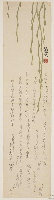 Sato_ Masuyuki: (Drooping willow) - ミネアポリス美術館