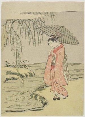 鈴木春信: Mitate of the Calligrapher Ono no Tofu - ミネアポリス美術館