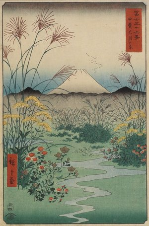 Utagawa Hiroshige: Field at Ostuki in Kai Province - Minneapolis Institute of Arts