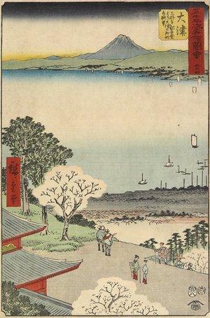 歌川広重: No.54 City View of Otsu Seen from Mii Temple, Otsu - ミネアポリス美術館