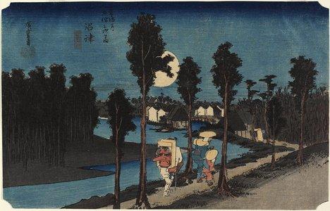 Utagawa Hiroshige: Dusk scene, Numazu - Minneapolis Institute of Arts