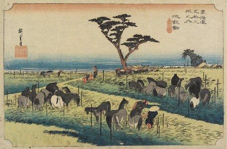 Utagawa Hiroshige: April Horse Fair, Chiryu - Minneapolis Institute of Arts