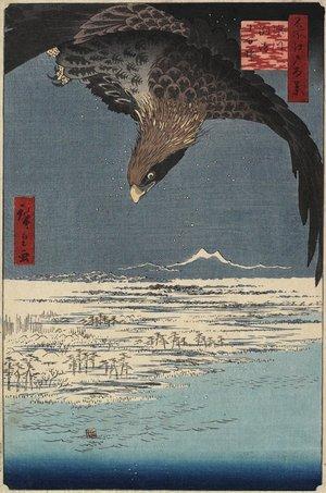 歌川広重: Jumantsubo at Susaki, Fukagawa - ミネアポリス美術館