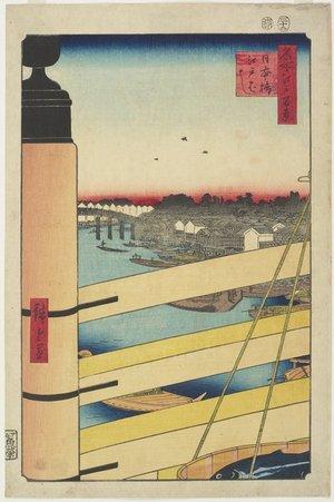 Utagawa Hiroshige: Edo-bashi Bridge from Nihon-bashi - Minneapolis Institute of Arts