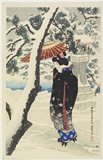 Ito Shinsui: Snow at the Shrine - Minneapolis Institute of Arts