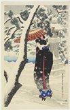 Ito Shinsui: Snow at the Shrine - Minneapolis Institute of Arts