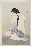 Natori Shunsen: Nude Woman Combing her Hair - Minneapolis Institute of Arts
