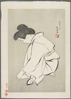 Hashiguchi Goyo: Woman Cutting Toenails - Minneapolis Institute of Arts