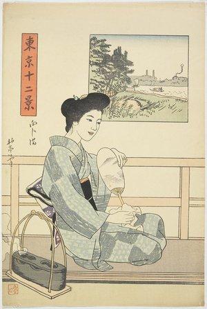 石井柏亭: Mukojima - ミネアポリス美術館