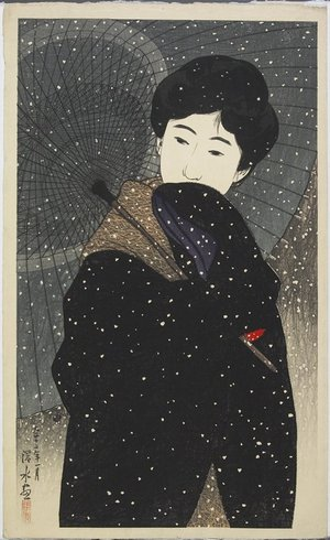 Ito Shinsui: Snowy Night - Minneapolis Institute of Arts