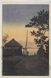Kawase Hasui: Evening at Aso in Ibaraki Prefecture - Minneapolis Institute of Arts