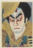 名取春仙: Ichikawa Nakaomi as Takechi Mitsuhide - ミネアポリス美術館