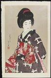 鳥居言人: Sash(black kimino version) - ミネアポリス美術館