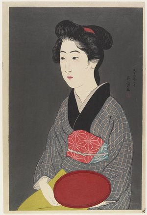Hashiguchi Goyo: Woman Holding a Tray - Minneapolis Institute of Arts