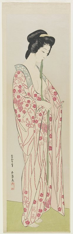 Hashiguchi Goyo: Woman in Kimono Undergarment - Minneapolis Institute of Arts