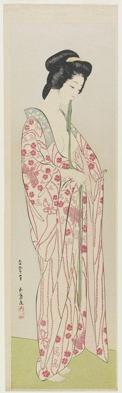 Hashiguchi Goyo: Woman in Kimono Undergarment - Minneapolis Institute of Arts