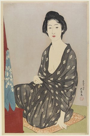 Hashiguchi Goyo: Woman in Summer Robe - Minneapolis Institute of Arts