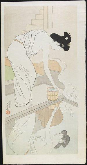 橋口五葉: Woman at the Hot Springs - ミネアポリス美術館