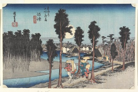 Utagawa Hiroshige: Dusk at Numazu - Minneapolis Institute of Arts