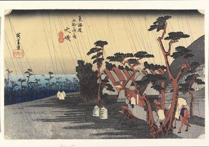 Utagawa Hiroshige: Princess Tora's Rain, Oiso - Minneapolis Institute of Arts