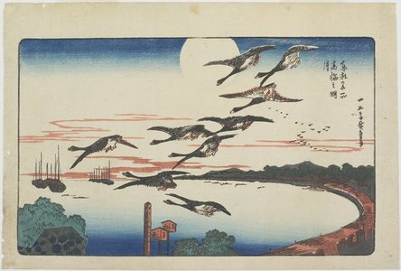 Utagawa Hiroshige: Moonlight at Takanawa - Minneapolis Institute of Arts