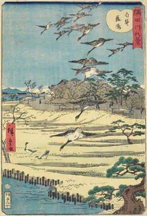 Utagawa Hiroshige II: Homing Geese at Shirahige - Minneapolis Institute of Arts