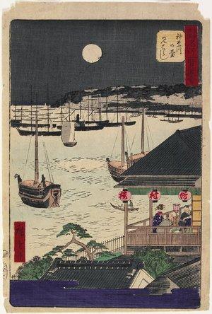 Utagawa Hiroshige III: View from Kanagawa Hill - Minneapolis Institute of Arts