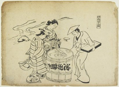 Okumura Masanobu: Three Sake Tasters - Minneapolis Institute of Arts