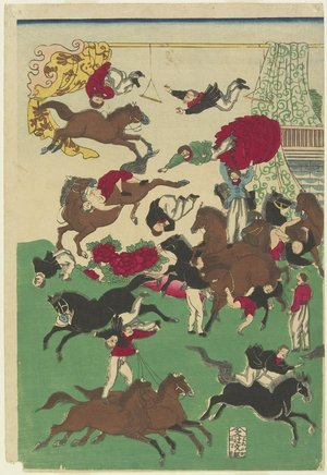 Utagawa Yoshitora: (Circus Stunts) - Minneapolis Institute of Arts