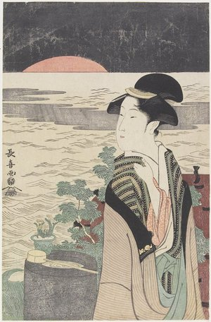 Eishosai Choki: A Beauty Looking at the First Sunrise - Minneapolis Institute of Arts