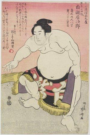 柳々居辰斎: The Sumo Wrestler Shirataki Saijiro - ミネアポリス美術館