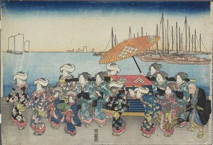 Utagawa Hiroshige: (Wedding Procession) - Minneapolis Institute of Arts
