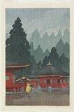 川瀬巴水: Futatsudo Hall at Nikko Shrine - ミネアポリス美術館