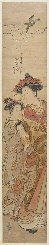 磯田湖龍齋: The Courtesan Hinazuru of the Chojiya House - ミネアポリス美術館