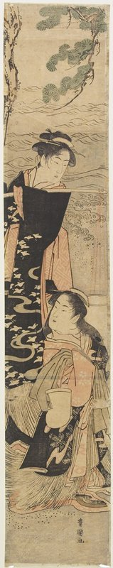 Utagawa Toyokuni I: (Scene from a Play based on the Story of Matsukaze and Murasame Sister) - Minneapolis Institute of Arts
