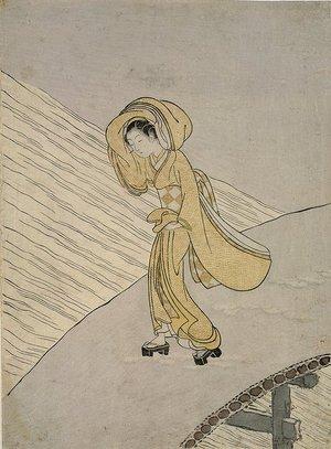 鈴木春信: Mitate of Fujiwara no Teika's Poem