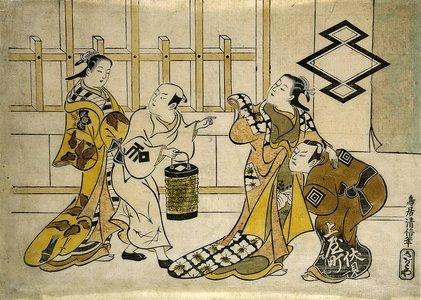 Torii Kiyonobu I: Ichikawa Danjuro II, Fujimura Handayu II, Katsuyama Matagoro, and Sanogawa Mangiku - Minneapolis Institute of Arts