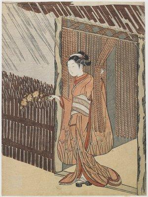 鈴木春信: Mitate of the Poet Ota Dokan - ミネアポリス美術館