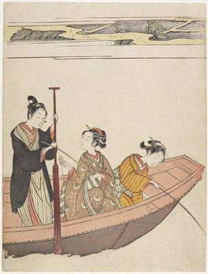 Suzuki Harunobu: Fishing Near Mimeguri Shrine on the Sumida River - Minneapolis Institute of Arts