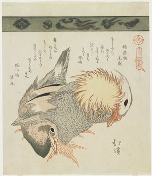 Totoya Hokkei: Mandarin Duck and Drake - Minneapolis Institute of Arts