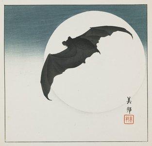 Takahashi Biho_: Bat and Moon - Minneapolis Institute of Arts