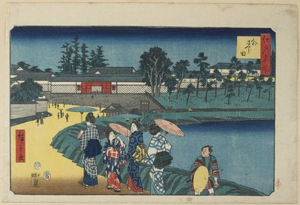 Utagawa Hiroshige: Outer Sakurada - Minneapolis Institute of Arts